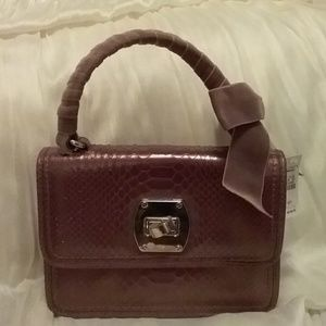 Talbots leather pocketbook with suede bod